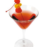 Knickerbocker Martini - 4,0cl gin, 1,0cl Martini dry, 1,0cl Martini rosso, spruzzo orange bitter