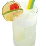Gin Fizz - 4,0cl gin, 2,5cl succo di limone, 1,5cl sciroppo di zucchero, 5,0cl soda water