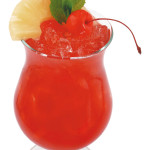 Singapore sling - 4,0cl gin, 1,5cl cherry brandy, 1,0cl succo di limone, 6,5cl soda water