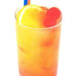 tequila sunrise - 4,0cl tequila, 8,0cl succo d'arancia, 1,0cl sciroppo di granatina