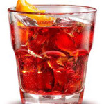 Virgin Negroni - 3,0 cl succo cranberry, 3,0 cl bitter analcolico, 3,0 cl succo di mela limpida